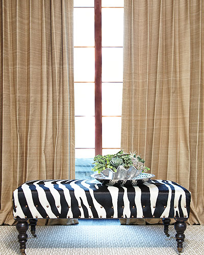 Custom Hand Woven Silk Drapes